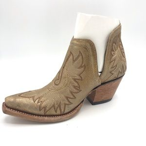 Ariat Dixon Distressed Gold Western Booties